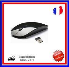 Souris Sans fil optique USB Mini Ultra mince Fin  Récepteur USB  Noir