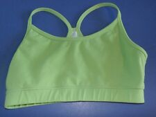 Lululemon Women Sz 4 ? Flow Y Sports Bra Green Gingham Vintage Tank No Insert