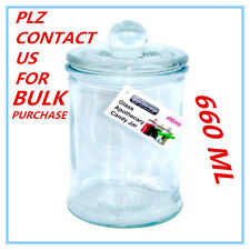 1 X Glass Candy Lolly Buffet Jar Candle Waxing Wedding Party 660ML