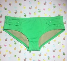 NEW J. CREW SIDE SNAP BRIEF a2148 SWIM SUIT BIKINI BOTTOMS PGR GREEN NEW XL