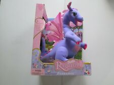 BARBIE RAPUNZEL PENELOPE PLUSH DRAGON WITH HEART LOCKET MOVES & TALKS 2002 NIB