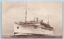 Postcard Pacific Line SS Reina Del Pacifico Steamer Steam Ship c1930s V2