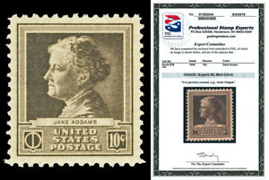 Scott 878 1940 10c Addams Famous Americans Mint Graded Superb 98 NH PSE CERT!