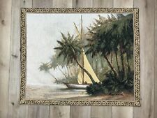 Leaving Out Sailboat Palm Trees Grande Tapestry Wall Hanging By Art Fronckowiak