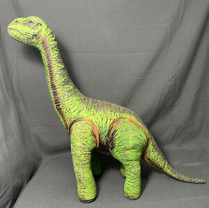 Vintage 1992 Determined Productions Applause Dinosaur Plush Green Brontosaurus