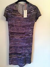 Bnwt 100% Auth SEE BY CHLOE, Violet Robe Moulante. UK 10 RRP £ 380