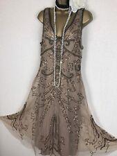 Principles Tapis Rouge de perles vintage à clapet robe de soirée robe Gatsby Sequin 16