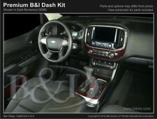 WOOD GRAIN DASH KIT For CHEVY COLORADO FITS EXTENDED CAB 2015-2019 (MEGA KIT)