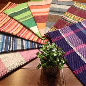100% Cotton Hand Woven RUG Bath Mats Washable Carpet Blanket 60x90cm or 90x150cm