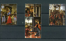Gambia 2015 MNH Christmas Sandro Botticelli Paintings 4v Set Adoration Kings