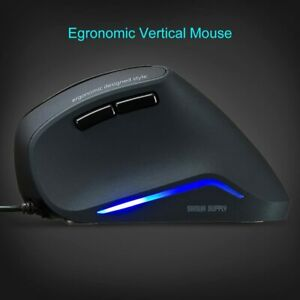 SANWA Wired Vertical Ergonomic Mouse Blue LED Optical Computer Mice, (1000/1600)