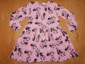GIRLS ~ 3 4 years ~ GEORGE Disney MINNIE MOUSE Pink & Black SOFT Jersey DRESS