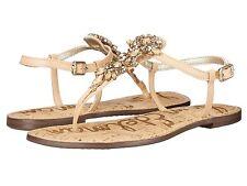 Sam Edelman Gene Womens Sandals Jeweled Detailing Naked Leather size 7.5 New