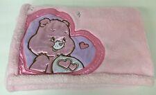 Care Bears Baby Blanket Pink Plush Fleece Love A Lot Bear Security Lovey