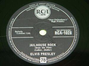 ELVIS PRESLEY : Jailhouse rock - Original 1958 UK RCA 78rpm 219