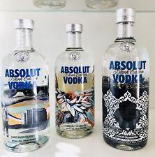 Colección resolución!!! absolut vodka Blank 1+2+3 set 700/750 ml *** nuevo ***