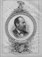 JAMES GARFIELD PORTRAIT THE REPUBLICAN CANDIDATE FOR PRESIDENT 1880 HISTORY