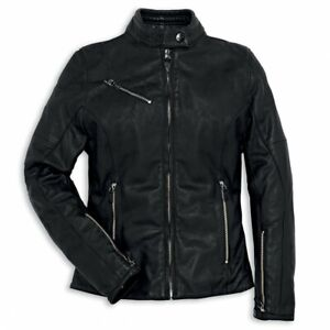 Ducati by Dainese Downtown Womens Leather Jacket Black Size 40