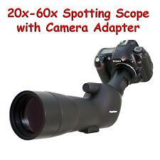 20-60x 60a 2000mm 6000mm Spotting Telescope for Nikon D700 D60 D40x Digiscoping
