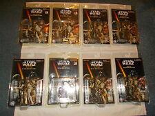 1997 KEY CHAINS STAR WARS MOC 8 Die Cast BOBA FETT C-3PO HAN SOLO LUKE SKYWALKER