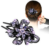 Women's Hair Jewelry Flower Crystal Hair Clips Grips Colorful Hairpins