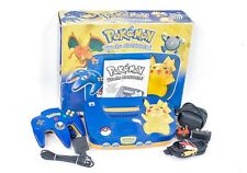 "nintendo <ne translation=""$num"" entity=""64"">$num</ne> pokemon pikachu edition console & controller boxed bundle! pal"