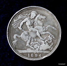 1894 Queen Victoria Argent Sterling Couronne: REGNAL date LVIII.