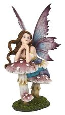 Pondering Fairy Figurine Statue fairyland Faery Collection Mystical in Breeze