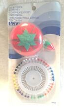VINTAGE SEWING PIN CUSHIONS AND PINS TOMATO NOS (1) PENN