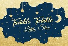 Twinkle Twinkle Little Star Glitter Background 7x5FT Baby Birthday Prop Backdrop