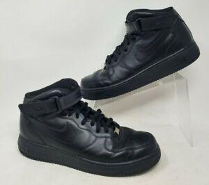 Nike Mens Air Force 1 Mid 07 Triple Black 315123-001 Size 12