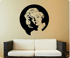 Marilyn Monroe Lovely Picture Face Modern Wall Decal Sticker Quote Detailed Art