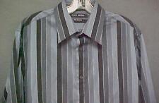 New W/Tag John Henry City Dressing Shirt Long Sleeve 100% Cotton Men's Size L
