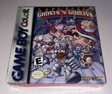 Ghosts N Goblins (Game Boy Color, GBC, Nintendo) NEW Factory Sealed H-Seam RARE!