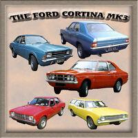 FORD CORTINA MK3 CLASSIC CAR FRIDGE MAGNET GIFT SALOON, ESTATE, L, XL, GXL