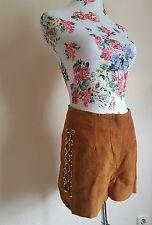 ASOS Festival Coachella Suede Wildleder Shorts Hot Pants Vintage Boho 36 UK8