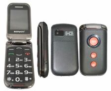 SONICA F1 BLACK Dual SIM Unlocked SOS BIG BUTTON 2G Flip Mobile Phone Elderly
