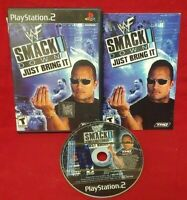 WWE Smack Down Just Bring It -  Playstation 2 PS2 Game Complete Tested Rock HHH