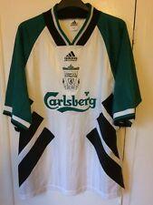 1993/1995 LIVERPOOL AWAY FOOTBALL SHIRT grandi uomini Adidas Carlsberg Vintage Rare
