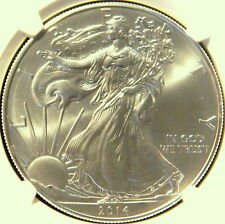 2014   SILVER EAGLE, NGC MS 70,  FIRST RELEASE