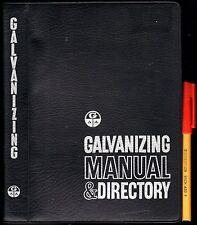 288pg GALVANIZING MANUAL & DIRECTORY 1971 EC Metals Engineering