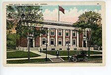 Post Office WALKERVILLE Ontario—Antique PC Flag Car ca. 1910s