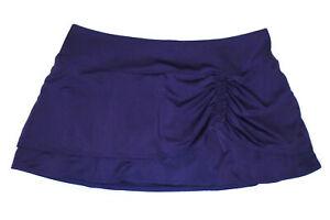 ATHLETA Fitness Skort DEEP PURPLE Ruched Ruffled Layered Yoga Run Skirt NEW : Lg