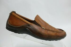 COLE HAAN Tucker Venetian Brown Sz 10.5 M Men Driving Leather Moccasin Loafers