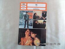 CARTE FICHE CINEMA 1984 CAL Helen Mirren John Lynch Donald McCann Stevan Rimkus