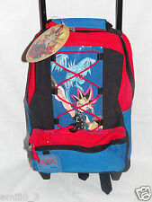 NEW WITH TAGS YU GI OH  RED /BLUE  SMALL ROLLING BACKPACK 13""