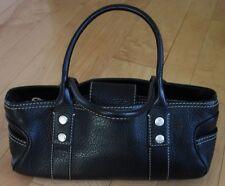 Michael Kors Womens Black Leather Satchel Purse Handbag