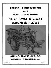 Allis Chalmers B  C Plows Operator and Parts manual TPL-178C