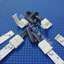 10x led-to-led Connector 4p with 15cm wire for 10mm width RGB 5050 led strip