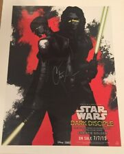 Star Wars Dark Disciple Author Signed Poster Star Wars Celebration 2015